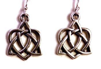 Antique Silver Celtic Earrings